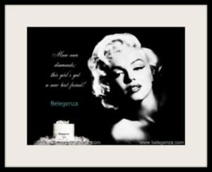 Marilyn Belegenza Monroe diamonds best friend taffy growout