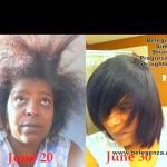 Simply Straight Progressive Straightener Nancy La Loca Watson Before and After Belegenza